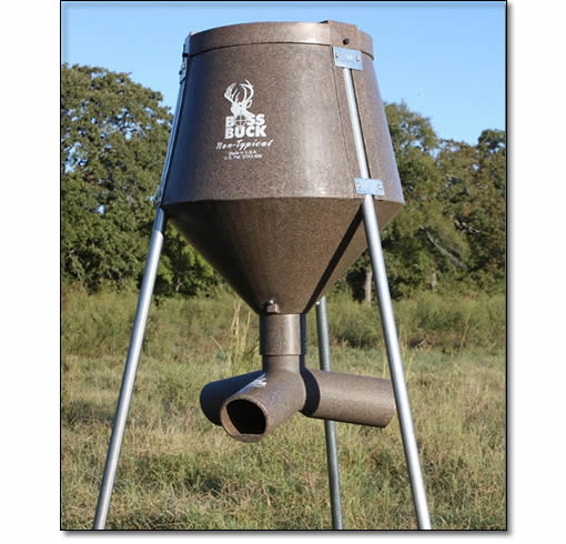 Protein wildlife gravity feeders from boss buck game