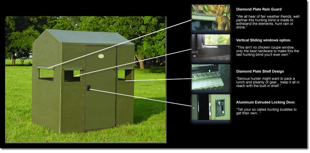blinds stand outdoors blind from deer executive available extreme x on fiberglass along with a we offer op
