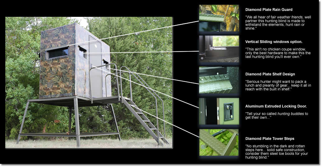 5 X 7 High Roller Fiberglass Deer Stand By Boss Game Systems