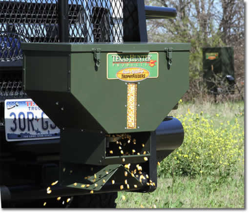 ATV Feeder and Tailgate Spreader can spread feed, seed, or