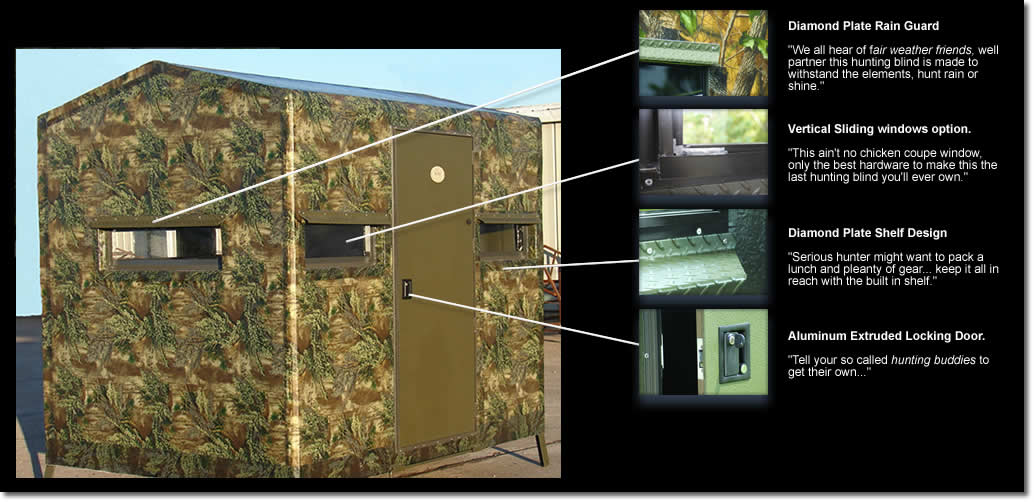 The 6 X 8 Fiberglass Deer Blind By Boss Game Systems Is